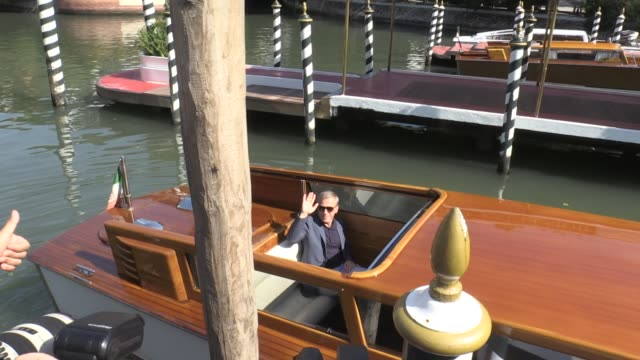 We spotted Guillermo del Toro and Christoph Waltz at the Excelsior hotel during the Venice Film Festival 2018 Venice Italy on Monday September 3rd...