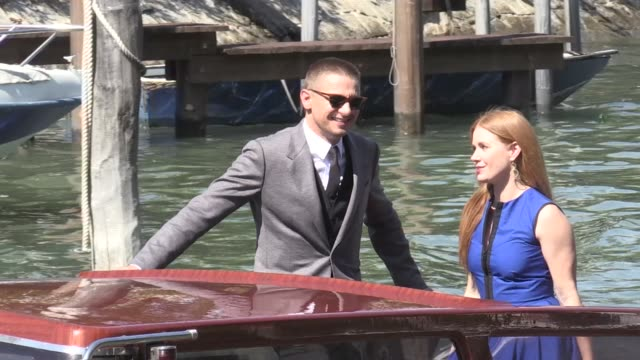 We spotted Jeremy Renner and Amy Adams arriving in style on a boat at the Venice Biennale Film Festival 2016 the actors are in town to present their...