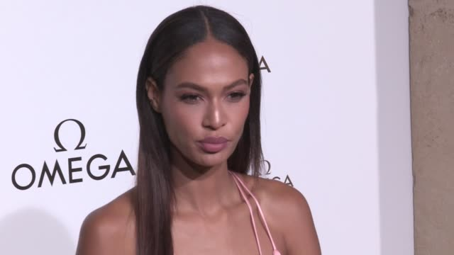 we spotted joan smalls and more attending the her time omega photocall party as part of the paris fashion week friday september 29 2017 paris france - joan smalls stock videos & royalty-free footage