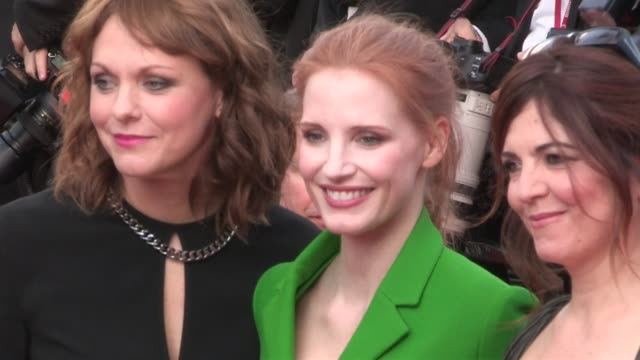 We spotted Jury members Jessica Chastain Agnes Jaoui and Maren Av on the red carpet for the Premiere of The Meyerowitz Stories at the Cannes Film...