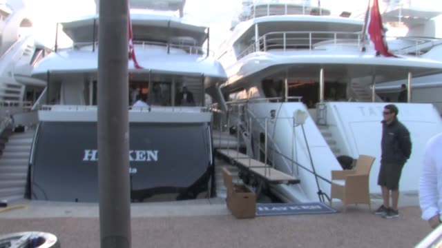 We spotted Kanye West and Kim Kardashian leaving the Lady Joy boat in Cannes' harbor on the way to Kanye's personal red carpet in Cannes Kim is...