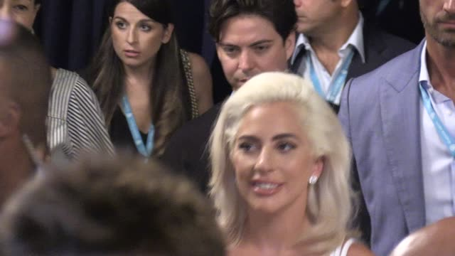 We spotted Lady Gaga and Bradley Cooper arriving at the press conference for their latest movie A Star is Born in Venice for the Film Festival 2018...