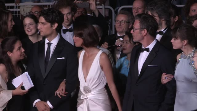 We spotted Louis Garrel Stacy Martin Berenice Bejo director Michel Hazanavicius and more on the red carpet for the Premiere of Le Redoutable at the...