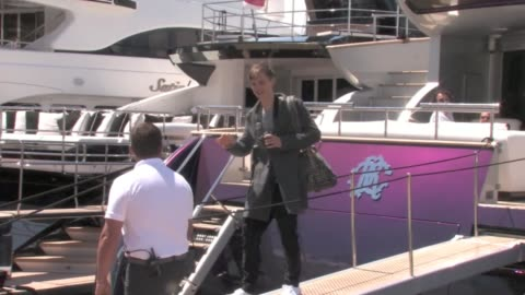 we spotted mick jagger's daughter georgia may jagger relaxing on roberto cavalli's boat in cannes with her boyfriend. the couple can be seen getting... - roberto cavalli stock videos & royalty-free footage