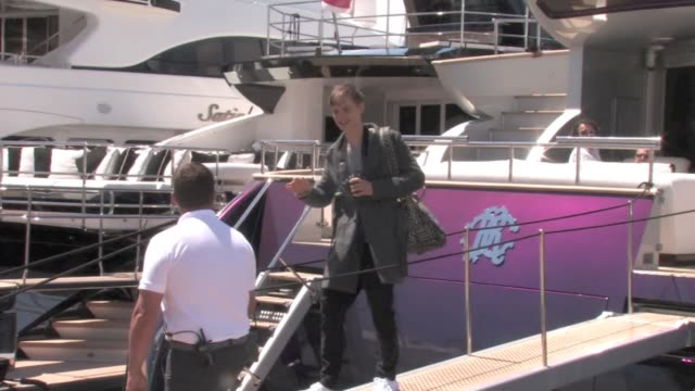 we spotted mick jagger's daughter georgia may jagger relaxing on roberto cavalli's boat in cannes with her boyfriend the couple can be seen getting... - roberto cavalli stock videos and b-roll footage