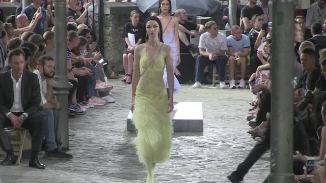 we spotted naomi campbell irina shayk joan smalls kendall jenner joan smalls candice swanepoel and their fellow models on the runway for givenchy men... - joan smalls stock videos & royalty-free footage