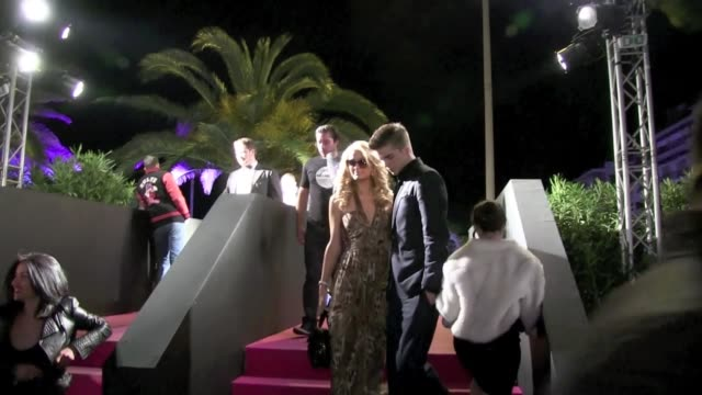 we spotted paris hilton and river viperii arriving at a boat party in cannes harbour. then the couple went to the gotha club where 2 chainz was... - festival del cinema video stock e b–roll