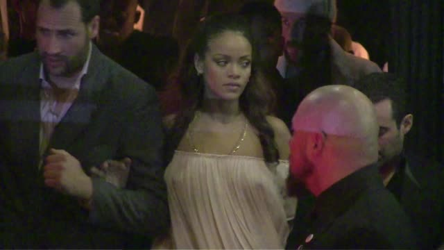 We spotted Rihanna her Boyfriend Travis Scott and Jared Leto attending the Vogue Party during the Spring Summer 2016 Fashion Week in Paris Saturday...