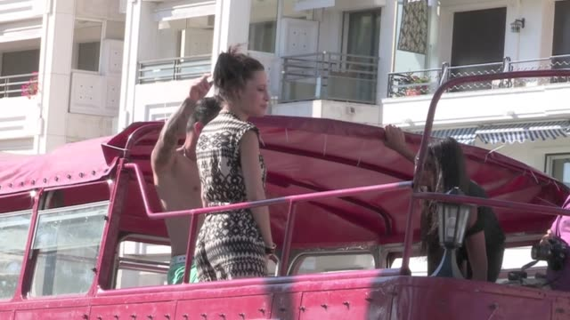 We spotted some celebrities strolling the famous Croisette during the 2013 Cannes Film Festival among them Porn star Nikita Belluci Milla Jovovich...