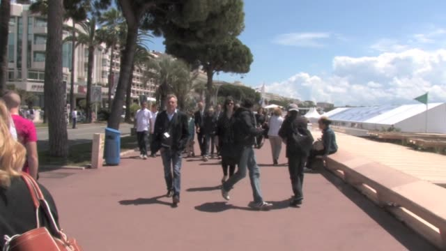 we spotted some celebrities strolling the famous croisette in cannes among them robin wright penn marilou berry and sami gayle - robin wright stock videos & royalty-free footage