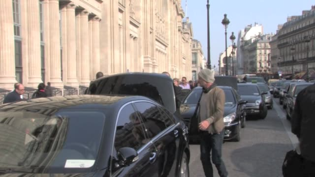 we spotted sting and his wife trudie styler arriving in paris at the gare du nord and then go to the royal monceau hotel. exclusive - sting and his... - trudie styler stock videos & royalty-free footage