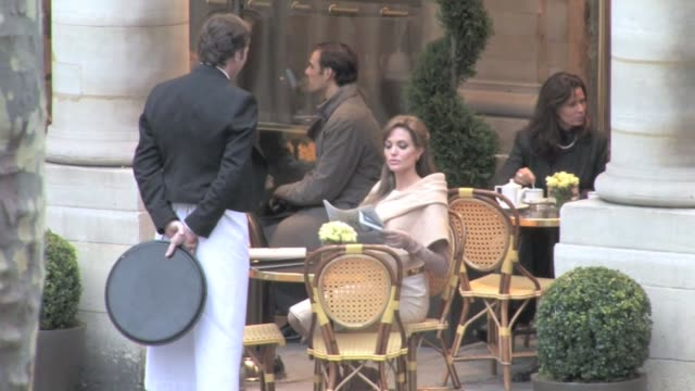 we spotted the 34 year old american actress angelina jolie on the parisian set of her new moviethe tourist the new film also costars johnny depp... - angelina jolie stock videos & royalty-free footage