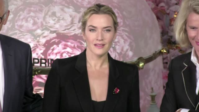 we spotted the academy award winner kate winslet unveiling the new christmas window displays at the legendary printemps store in paris also there ceo... - kate winslet stock videos and b-roll footage
