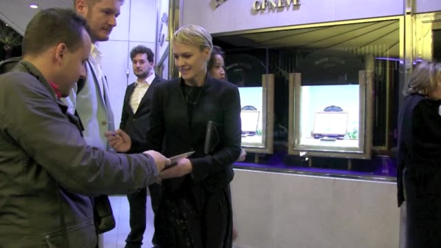 we spotted the american actress robin wright penn attending a party at the marriott hotel in cannes - robin wright stock videos and b-roll footage
