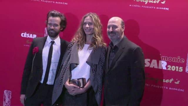 vidéos et rushes de we spotted the celebrities attending the diner party of the 40th cesar awards at the fouquet's restaurant in paris, among them: louane emera, romain... - 2015