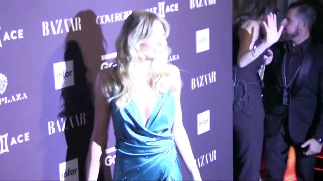 we spotted the celebrity guest at the harper's bazaar icons party during the spring summer 2016 fashion week in new york city, among them: judith... - judith hart stock videos & royalty-free footage