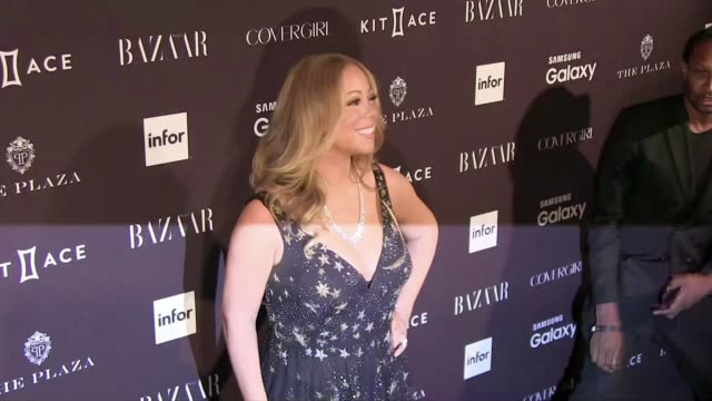 we spotted the celebrity guest attending the harper's bazaar icons party during the spring summer 2016 fashion week in new york city among them the... - mariah carey stock-videos und b-roll-filmmaterial