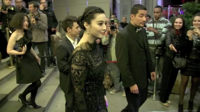 we spotted the chinese actress and model fan bingbing in cannes attending a party at the marriott hotel - actress stock videos & royalty-free footage