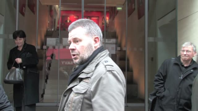 we spotted the french singer dick rivers at the exit of the rtl radio station many fans were there to get a picture or an autograph from the old... - hörfunksender stock-videos und b-roll-filmmaterial