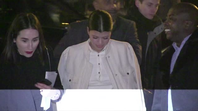 We spotted the guest arriving at the HM Fall Winter 2015/2016 Fashion Show held at the Grand Palais in Paris Erin O'Connor Sofia Richie Noomi Rapace...