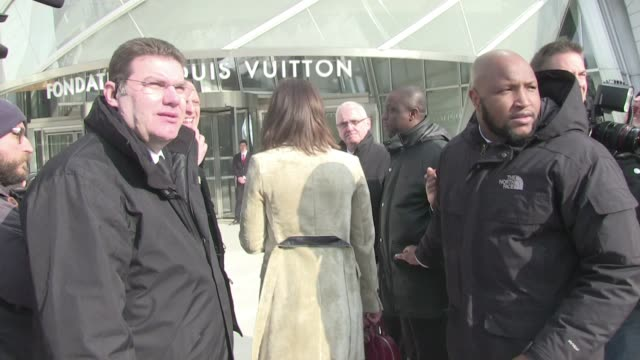 We spotted the guest arriving at the Vuitton Fall Winter 2015/2016 Fashion Show held at the Fondation Louis Vuitton in Paris Adèle Exarchopoulos and...