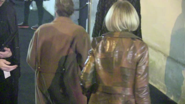 we spotted the guests arriving at the balenciaga fall winter 2015/2016 fashion show held at the hopital laennec in paris among them : vogue legends... - friday stock videos & royalty-free footage