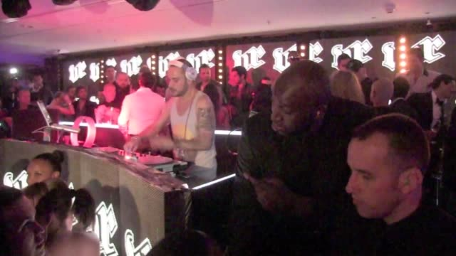 we spotted the reality tv superstar and new kanye west's girlfriend kim kardashian partying at the vip room club in cannes also there to sing for the... - cannes video stock e b–roll