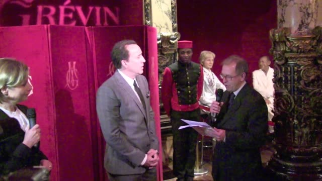 we spotted the speech of the director of the musee grevin about nicolas cage for the presentation of his wax statue in paris speech about nicolas... - nicolas cage stock videos & royalty-free footage