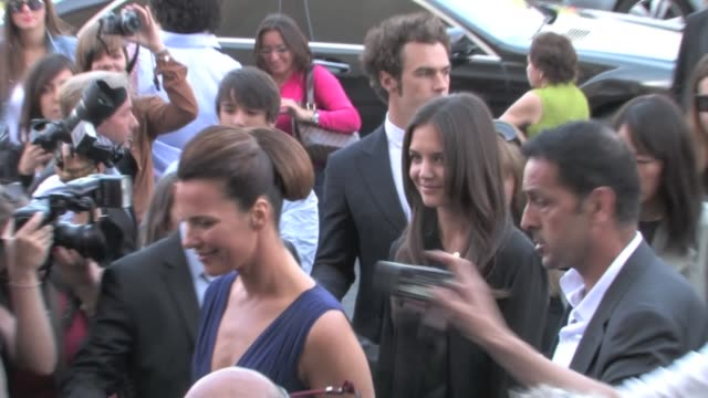 we spotted tom cruise's wife katie holmes attending armani's haute couture show in parisparis france on tuesday july 5th 2011 katie holmes attending... - katie holmes stock videos and b-roll footage