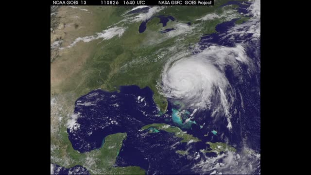 weakened hurricane irene tore sunday into new york, hammering manhattan's skyscrapers with fierce winds and threatening to flood the financial... - hurricane irene stock videos & royalty-free footage