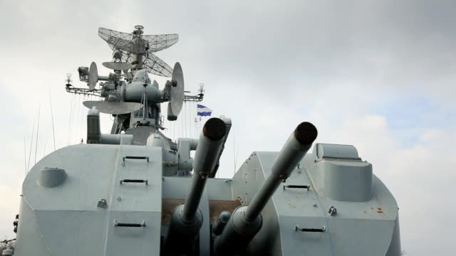 weapons of russian warship - warship stock videos & royalty-free footage