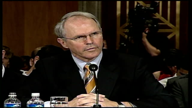 weapons programme via usa washington capitol hill int chris hill speaking at hearing over stalled north korean disarmament talks sot our... - disarmament stock videos and b-roll footage