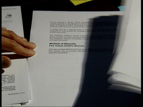david blunkett comments; itn lib int papers on table - david blunkett stock videos & royalty-free footage