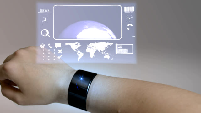vídeos de stock e filmes b-roll de wearable computing watch - procurar