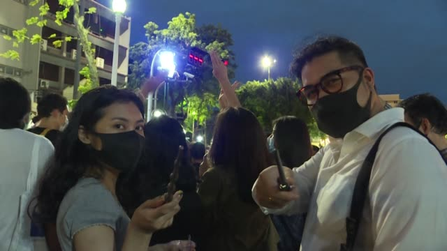 wearing robes waving wands and casting spells thai youths take to the streets for a harry potterthemed protest against the militaryaligned government... - potter stock videos & royalty-free footage