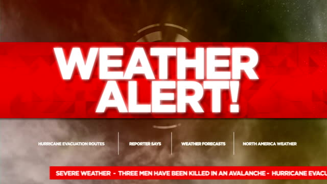 weather alert broadcast tv graphics title - danger stock videos & royalty-free footage