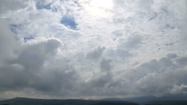 weather change after the rain, from cloudy to sunny - bedeckter himmel stock-videos und b-roll-filmmaterial