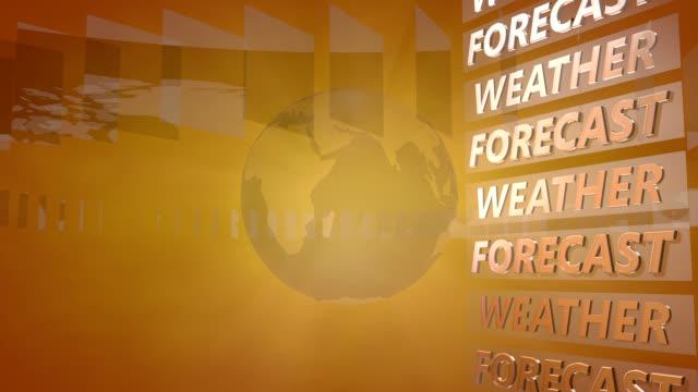 stockvideo's en b-roll-footage met weerbericht achtergrond met een roterende wereldbol - meteorologie