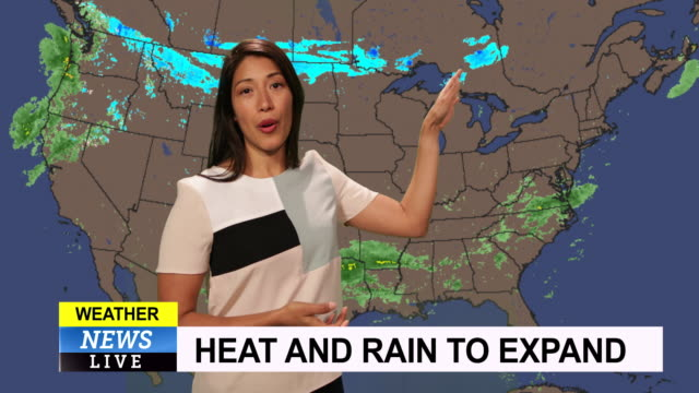 weather forecast in a green screen studio - meteorology stock videos & royalty-free footage