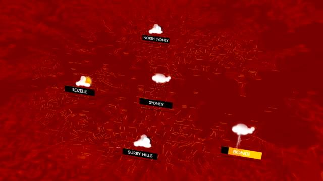 vidéos et rushes de graphiques météo pour sydney - cold temperature