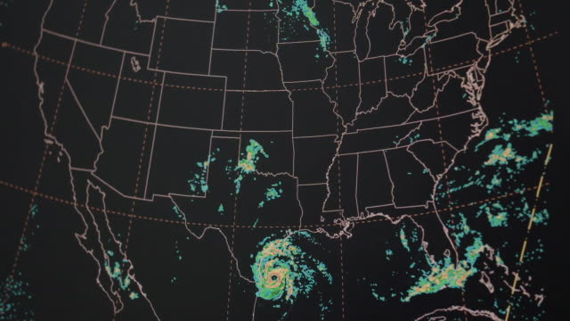 weather pattern imagery over us map - weather stock videos & royalty-free footage