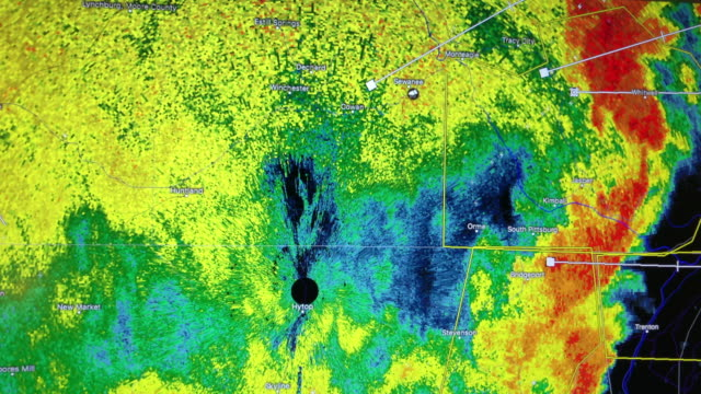weather radar shows thunderstorm moving in the southeast of america - radar stock videos & royalty-free footage