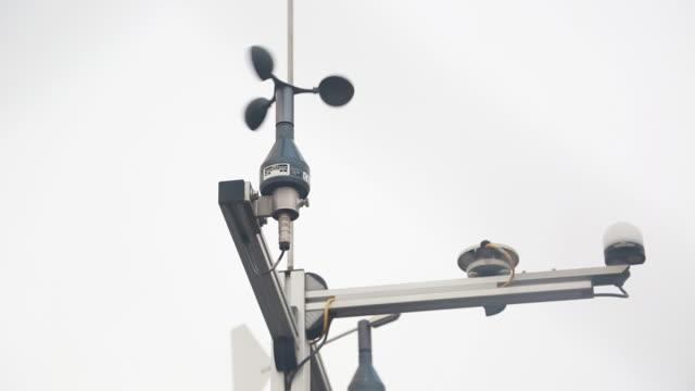 weather station equipment - wetterstation stock-videos und b-roll-filmmaterial