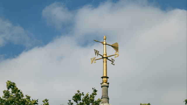 weather vane moves in the wind - cloud sky stock videos & royalty-free footage