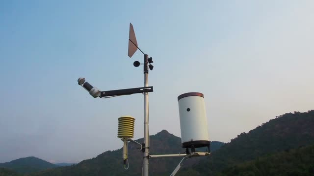 weather vane wind gauge for direct and strength. - measuring stock videos & royalty-free footage