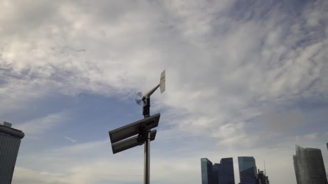 wetterfahne mit solarzelle - messgerät stock-videos und b-roll-filmmaterial