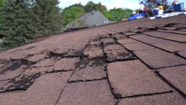 weathered and damaged roof - tile stock videos & royalty-free footage