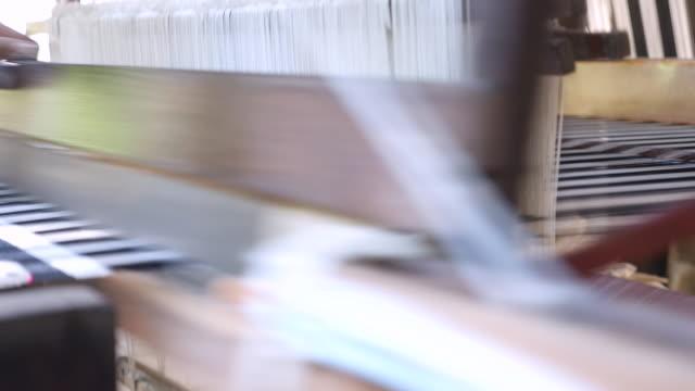 weaving at silkrope - weaving stock videos & royalty-free footage