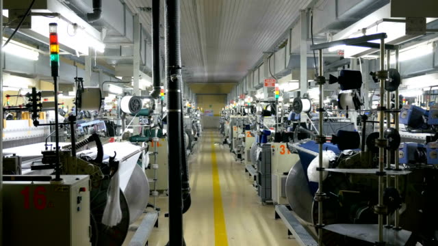 weaving loom machines in textile factory - needle plant part stock videos and b-roll footage