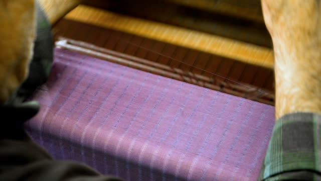 weaving machine. loom in store - loom stock videos & royalty-free footage